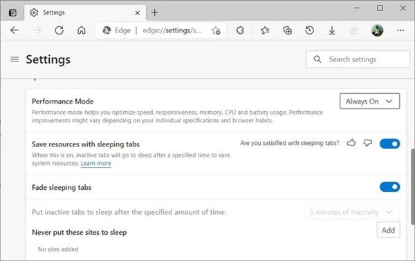 比Chrome更好用微软Edge浏览器性能模式下速度更快